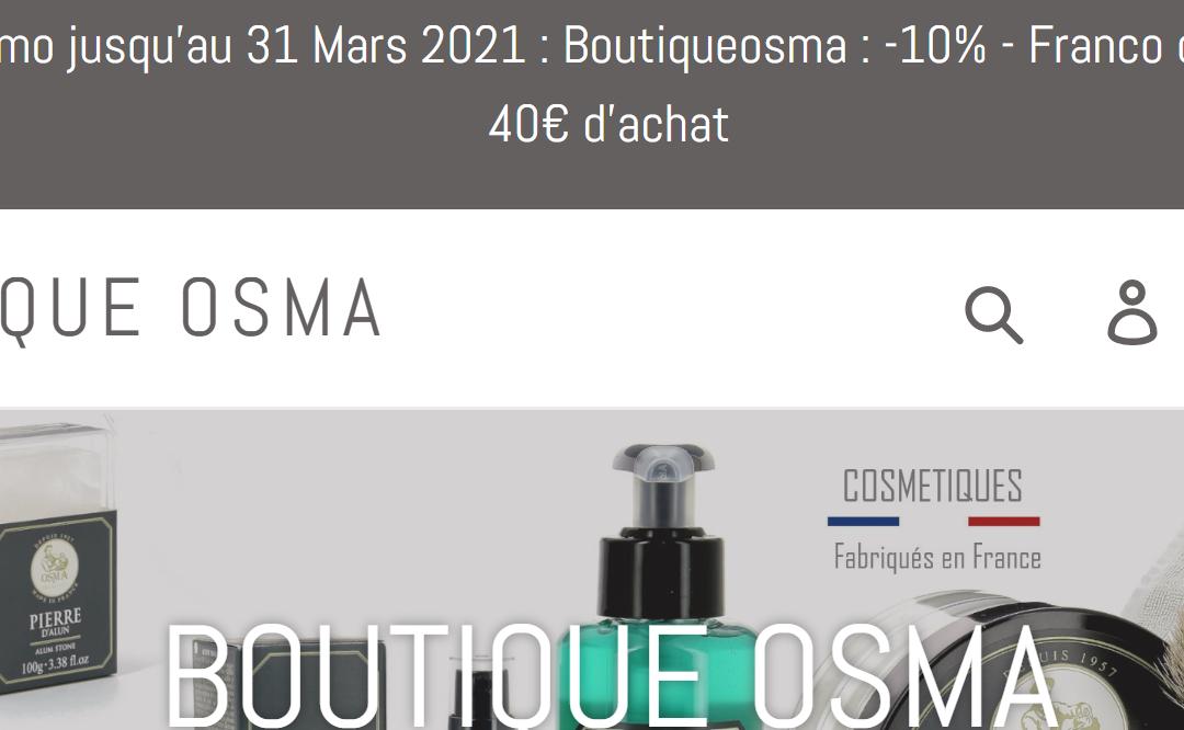 Boutique Osma : Nos produits de rasage en un clic